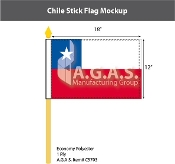 Chile Stick Flags 12x18 inch