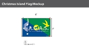 Christmas Island Flags 4x6 foot