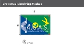 Christmas Island Flags 8x12 foot