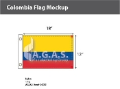 Colombia Flags 12x18 inch