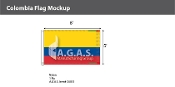 Colombia Flags 5x8 foot