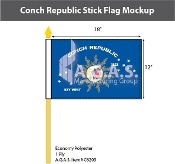 Conch Republic Stick Flags 12x18 inch