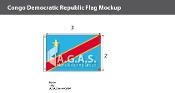 Congo Democratic Republic Flags 2x3 foot