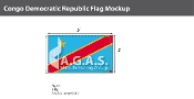 Congo Democratic Republic Flags 3x5 foot