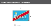 Congo Democratic Republic Flags 4x6 foot