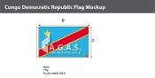 Congo Democratic Republic Flags 5x8 foot