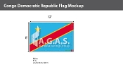 Congo Democratic Republic Flags 8x12 foot