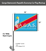 Congo Democratic Republic Car Flags 12x16 inch Economy
