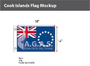 Cook Islands Flags 12x18 inch
