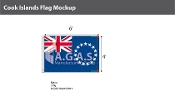 Cook Islands Flags 4x6 foot