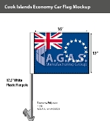 Cook Islands Car Flags 12x16 inch Economy