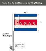 Costa Rica Car Flags 12x16 inch Economy (no seal)