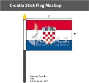 Croatia Stick Flags 4x6 inch