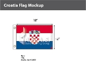 Croatia Flags 12x18 inch