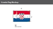 Croatia Flags 4x6 foot