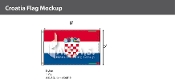 Croatia Flags 5x8 foot