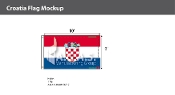 Croatia Flags 6x10 foot