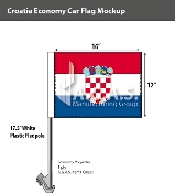 Croatia Car Flags 12x16 inch Economy