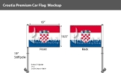 Croatia Car Flags 10.5x15 inch Premium