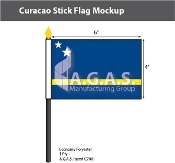 Curacao Stick Flags 4x6 inch