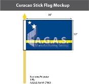 Curacao Stick Flags 12x18 inch