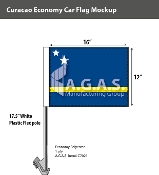 Curacao Car Flags 12x16 inch Economy
