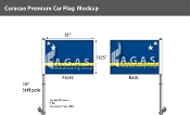 Curacao Car Flags 10.5x15 inch Premium