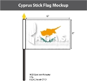 Cyprus Stick Flags 4x6 inch