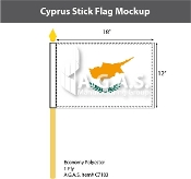 Cyprus Stick Flags 12x18 inch