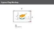 Cyprus Flags 4x6 foot