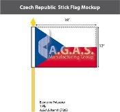 Czech Republic Stick Flags 12x18 inch