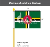 Dominica Stick Flags 12x18 inch