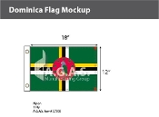 Dominica Flags 12x18 inch