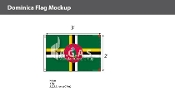 Dominica Flags 2x3 foot