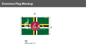 Dominica Flags 4x6 foot