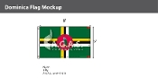 Dominica Flags 5x8 foot