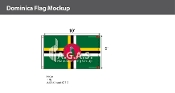 Dominica Flags 6x10 foot