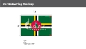 Dominica Flags 8x12 foot