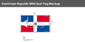 Dominican Republic Flags 3x5 foot (with seal)