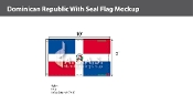 Dominican Republic Flags 6x10 foot (with seal)