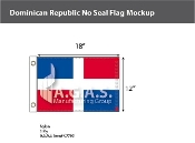 Dominican Republic Flags 12x18 inch (no seal)