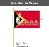 East Timor Stick Flags 12x18 inch