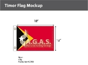 East Timor Flags 12x18 inch