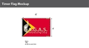East Timor Flags 4x6 foot
