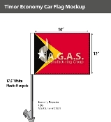 East Timor Car Flags 12x16 inch Economy