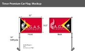 East Timor Car Flags 10.5x15 inch Premium