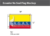Ecuador Flags 12x18 inch (no seal)