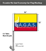 Ecuador Car Flags 12x16 inch Economy (no seal)