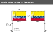 Ecuador Car Flags 10.5x15 inch Premium (no seal)
