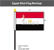 Egypt Stick Flags 4x6 inch